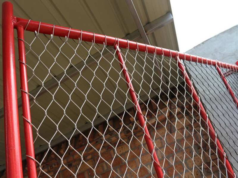 The stainless steel rope mesh woven net